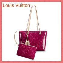 Louis Vuitton MONOGRAM VERNIS Monogram Casual Style Street Style A4 2WAY Leather Fringes