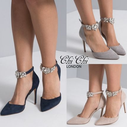 Pin Heels Party Style With Jewels Shoes