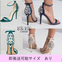 Chi Chi London Open Toe Pin Heels Party Style With Jewels Shoes