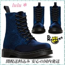Dr Martens Lace-up Casual Style Velvet Lace-up Boots