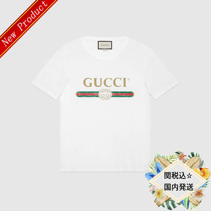 b9287d5c ... GUCCI More T-Shirts Street Style Cotton Short Sleeves T-Shirts ...