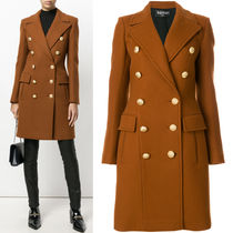 BALMAIN 17-18 AW BAL 167 DOUBLE BREASTED CASHMERE BLEND WOOL COAT