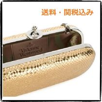Vivienne Westwood 2WAY Chain Plain Leather Party Style Clutches
