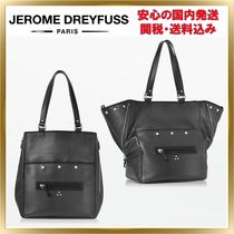 Jerome Dreyfuss Unisex A4 2WAY Plain Leather Elegant Style Totes