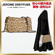 Jerome Dreyfuss Leopard Patterns 2WAY Chain Leather Elegant Style