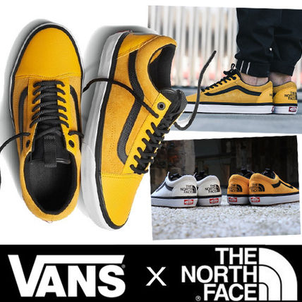 VANS OLD SKOOL Plain Toe Suede Street Style Collaboration Bi-color Plain