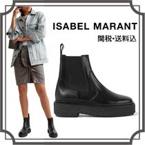 Isabel Marant Round Toe Rubber Sole Casual Style Blended Fabrics