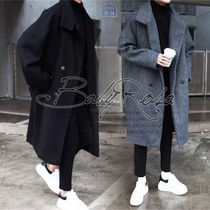 Street Style Plain Long Home Party Ideas Coats