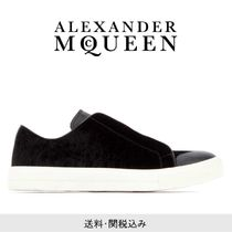 alexander mcqueen Plain Toe Unisex Studded Street Style Leather