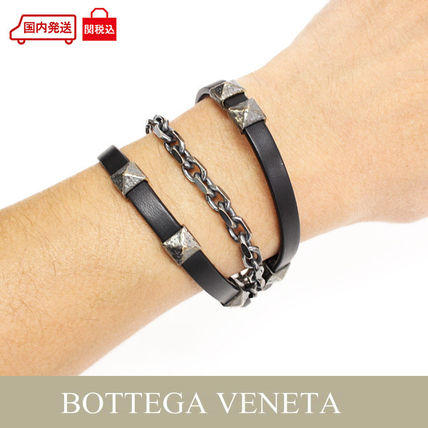 bottega burnished bracelet silver leather intrecciato veneta pin and sterling