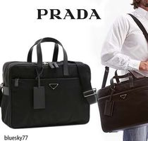 PRADA Unisex Nylon 2WAY Plain Business & Briefcases