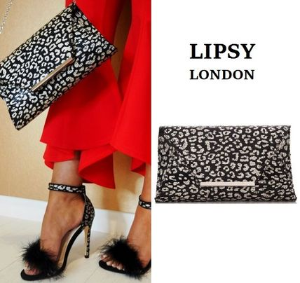 Leopard Patterns 2WAY Party Style Clutches
