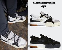 Alexander Wang Blended Fabrics Street Style Collaboration Leather Sneakers