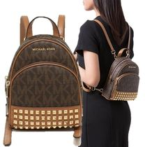 Michael Kors Monoglam 3WAY Leather Backpacks