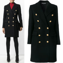 BALMAIN 17-18 AW BAL 175 DOUBLE BREASTED CASHMERE BLEND WOOL COAT