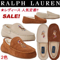 Ralph Lauren Suede Plain Loafer & Moccasin Shoes