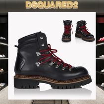 D SQUARED2 Mountain Boots Plain Leather Outdoor Boots