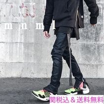 MNML Tapered Pants Denim Street Style Plain Tapered Pants