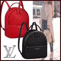 Louis Vuitton Monoglam A4 2WAY Leather Elegant Style Backpacks