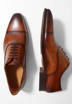 MAGNANNI Straight Tip Plain Leather Oxfords