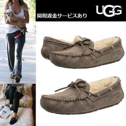 ... UGG Australia More Shoes Moccasin Casual Style Sheepskin Plain Shoes ...
