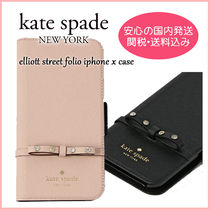 kate spade new york Plain Leather With Jewels Smart Phone Cases