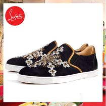 Christian Louboutin Plain With Jewels Loafers & Slip-ons