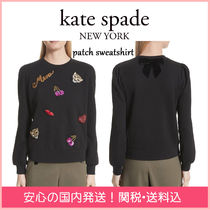 kate spade new york Crew Neck Leopard Patterns Casual Style Blended Fabrics
