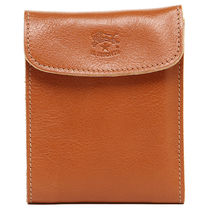 IL BISONTE Plain Leather Folding Wallet Folding Wallets