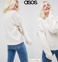 ASOS Casual Style Long Sleeves Plain Medium High-Neck Oversized