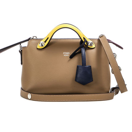 By The Way Mini Shoulder Boston Bag / Sand (Brown)