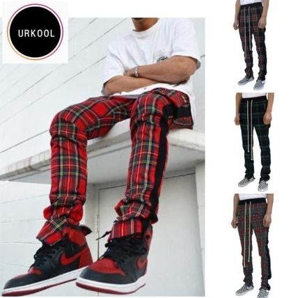 Other Check Patterns Street Style Pants