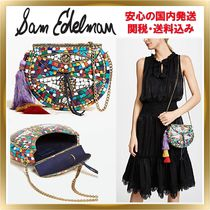 Sam Edelman Blended Fabrics Chain Party Style Shoulder Bags