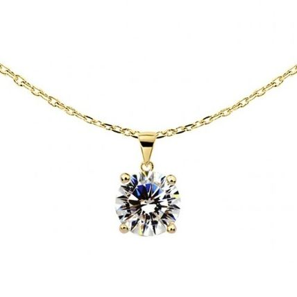 Party Style Silver 18K Gold Necklaces & Pendants