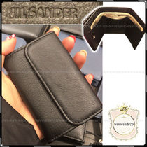 Jil Sander Plain Leather Folding Wallets