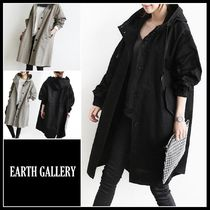 Casual Style Street Style Plain Long Parkas