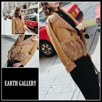 Short Casual Style Faux Fur Blended Fabrics Street Style