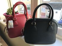 GUCCI 2WAY Plain Leather Handmade Shoulder Bags