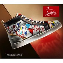 Christian Louboutin LOUIS Plain Toe Enamel Sneakers