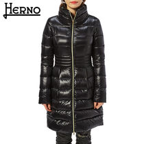 HERNO Casual Style Plain Long Down Jackets