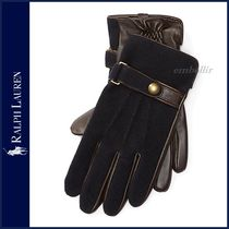 Ralph Lauren Plain Leather Leather & Faux Leather Gloves