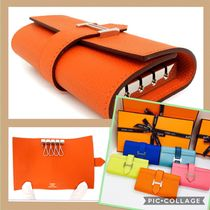 HERMES Bearn Leather Keychains & Bag Charms