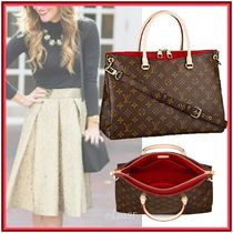 Louis Vuitton MONOGRAM Monoglam Cambus Blended Fabrics 2WAY Bi-color Elegant Style