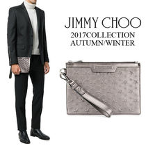 Jimmy Choo Star Unisex Leather Clutches