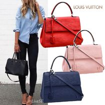 Louis Vuitton EPI 2WAY Bi-color Plain Leather Elegant Style Handbags