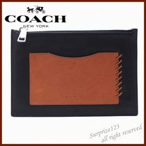 Coach Street Style Bag in Bag Bi-color Plain Leather Clutches