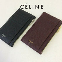 CELINE Plain Leather Coin Purses