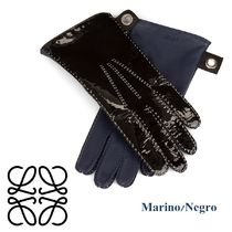 LOEWE Plain Leather Leather & Faux Leather Gloves