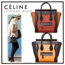 CELINE Luggage Calfskin 2WAY Elegant Style Shoulder Bags