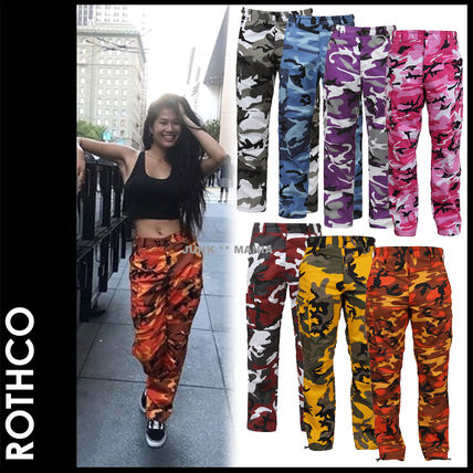 Camouflage Casual Style Street Style Pants